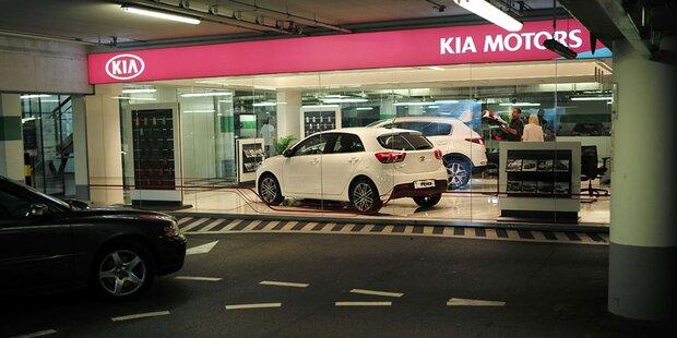 Kia-Schauraum in Wiener Einkaufszentrum