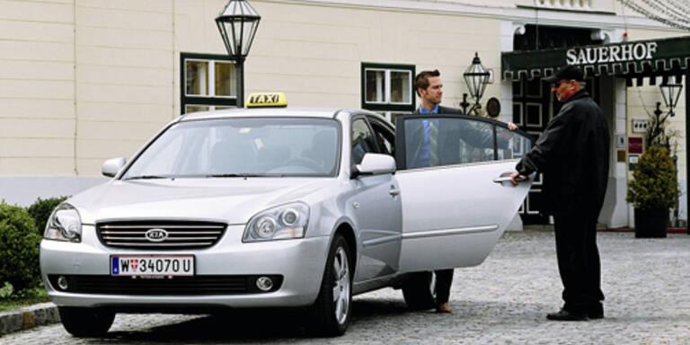 Kia als Taxi? Ja – in Wien fahren schon die ersten Magentis-Droschken.