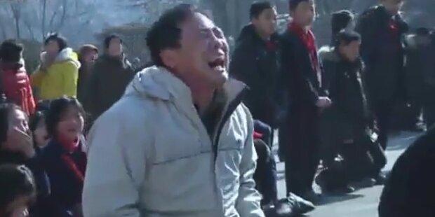Nordkorea weint um toten Kim Jong Il