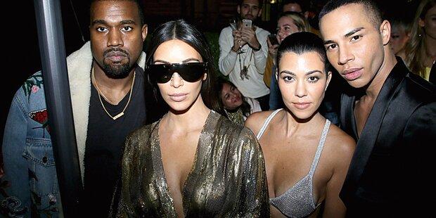 Kim strippt bei Pariser Fashion Week