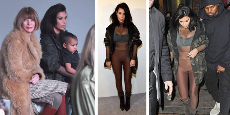 Kim Kardashian als sportliche Wurstpelle