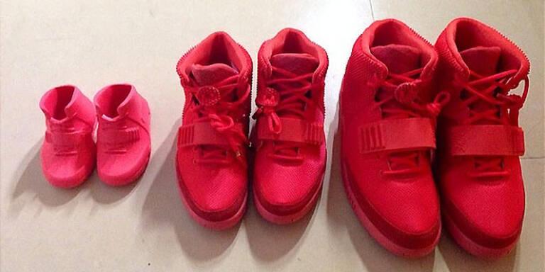 Kim, Kanye & North im Schuh-Partnerlook