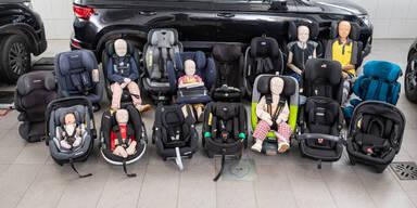 Fünf Kindersitze bei ÖAMTC-Test durchgefallen