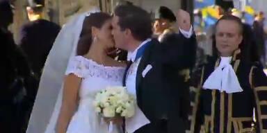 Hochzeitskuss: Chris kann nicht aufhören