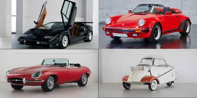 Seltener Lambo, Porsche & Jaguar bei Auktion in Salzburg