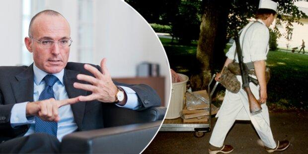 Bundesheer: Weniger Kellner und Fahrer