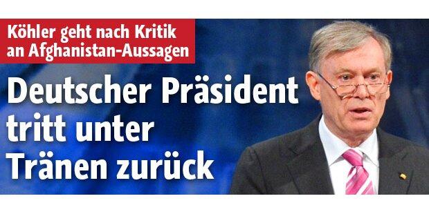 Deutscher BP Köhler tritt zurück