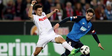 1:1 - Köln unentschieden gegen Hoffenheim