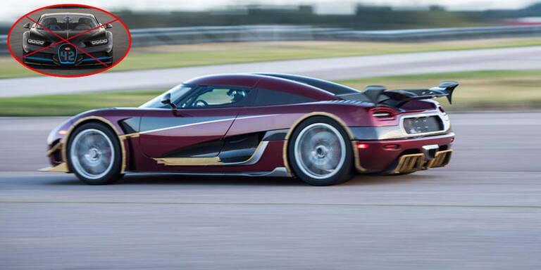 Koenigsegg entthront den Bugatti Chiron