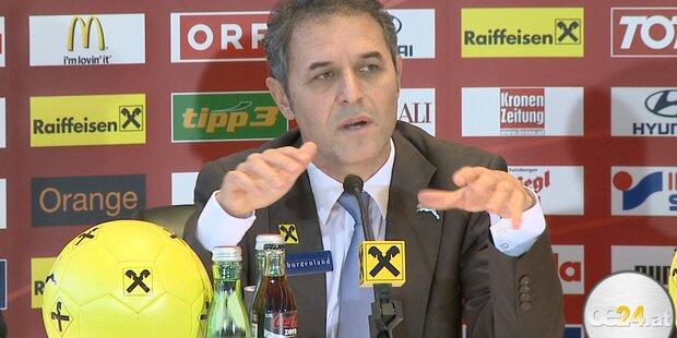 Marcel Koller stellt neues ÖFB Team vor