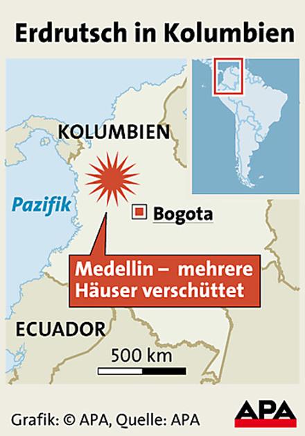 Kolumbien Erdrutsch