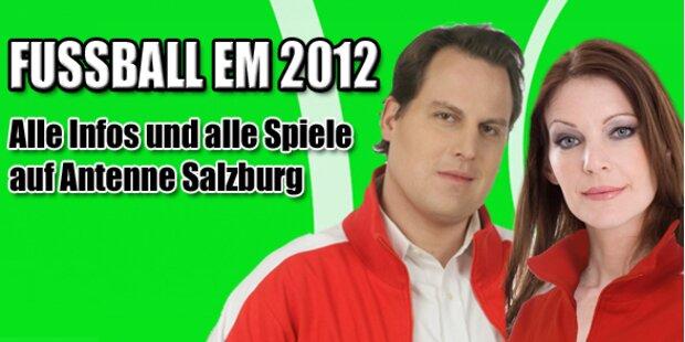 Mit Antenne Salzburg live bei der Fußball-EM