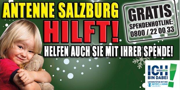 Jetzt geht's los: Heute startet Antenne Salzburg hilft
