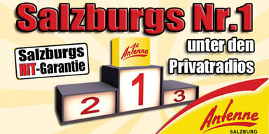 Antenne Salzburg ist die Nr. 1