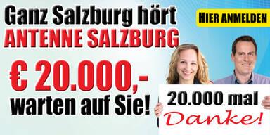 Antenne Salzburg sagt 20.000 Mal DANKE