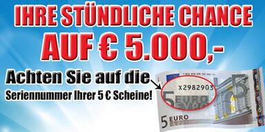 Stündlich die Chance auf 5000.- Euro