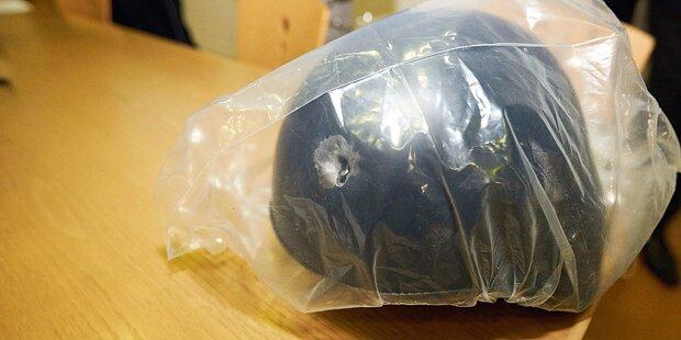 Anti-Terror-Helm rettete Polizist