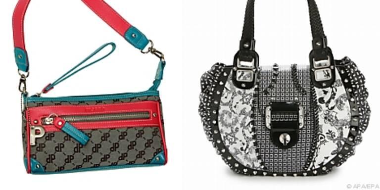 Kontraste: Handtaschen von Picard (l.) und Versace
