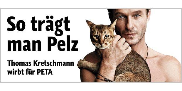 Thomas Kretschmann mit schnurrendem Pelz