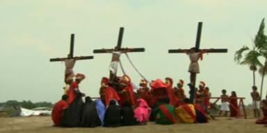 Ostern: Kreuzigungen auf den Phillippinen