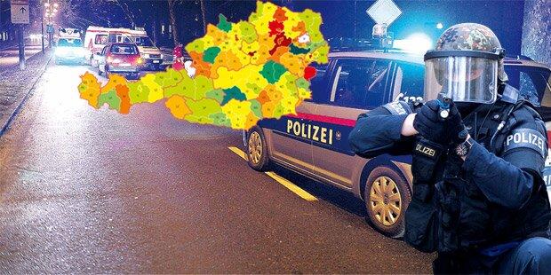 So gefährlich sind Österreichs Bezirke