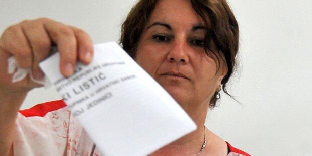 Kopf-an-Kopf-Rennen bei vorgezogener Wahl in Kroatien