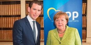 Kanzler Kurz zu Besuch bei Merkel