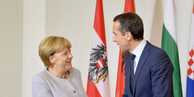 Merkel & Orban bei Kern