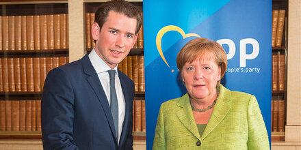 Kurz: Seine Polit-Gala bei Merkel & Co.