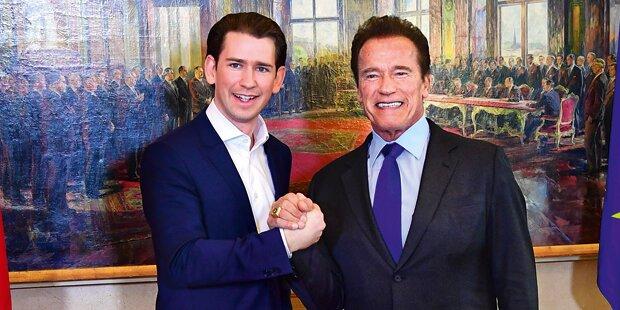 Arnie in Österreich: 1. Auftritt nach Herz-OP