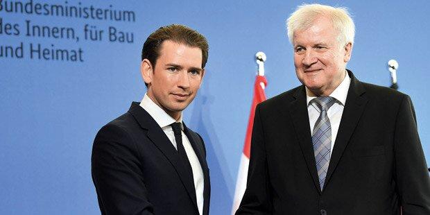 Kurz: Schulterschluss mit Deutschen bei Asyl