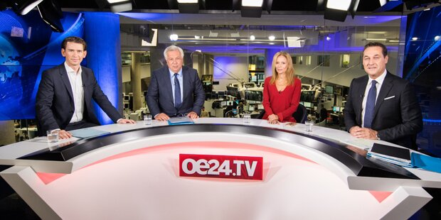 Strache gegen Kurz: Das TV- Duell der Erzfeinde