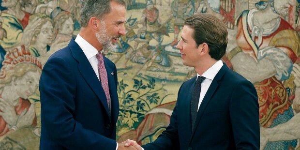 Olé! Kurz trifft spanischen König