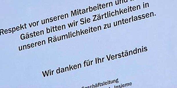 Kussverbot in Tiroler Lokal