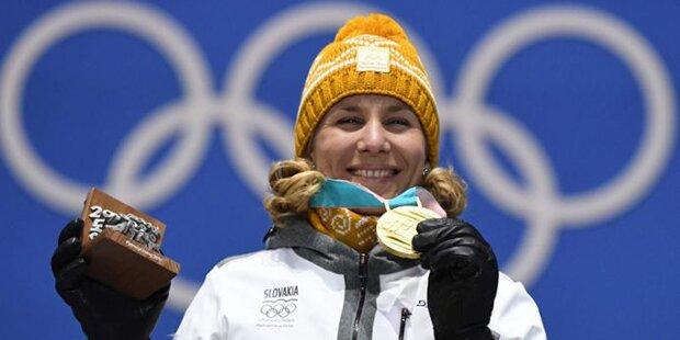 Dreimalige Olympiasiegerin Kuzmina beendete Karriere