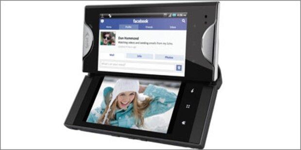 Erstes Smartphone mit 2 großen Touchscreens