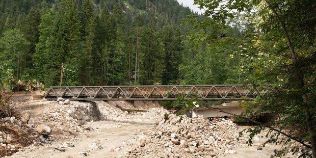 Behelfsbrücke über Rußbach