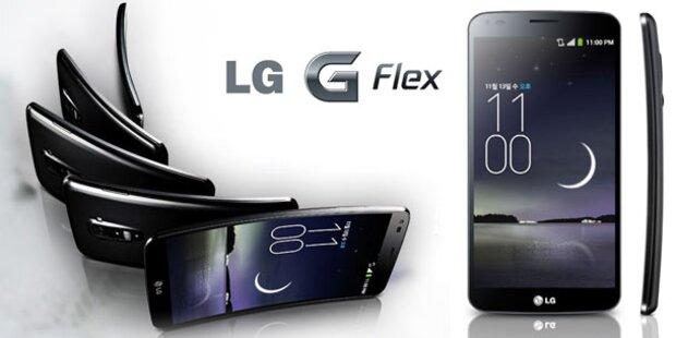 """3"" verkauft gebogenes LG-Smartphone"