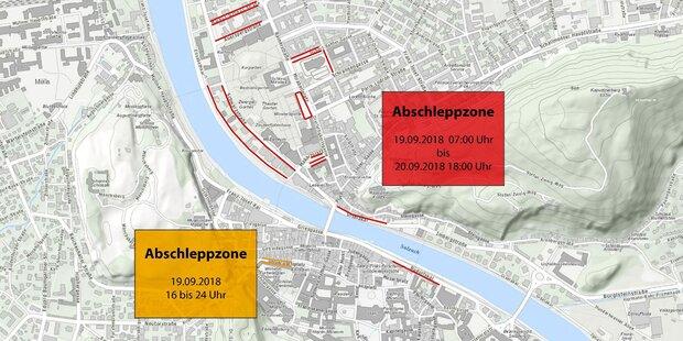 Straßensperren in Salzburg