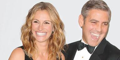 Lächeln weiße Zähne Julia Roberts George Clooney
