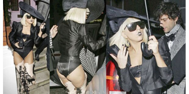 Lady Gaga feierte halbnackt in London