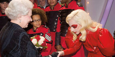 Lady Gaga bei der Queen