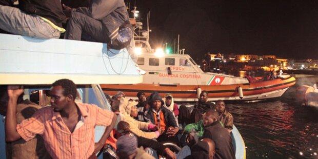 Wieder 111 Migranten auf Lampedusa gelandet