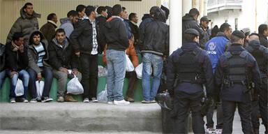 Flüchtlinge auf der Insel Lampedusa