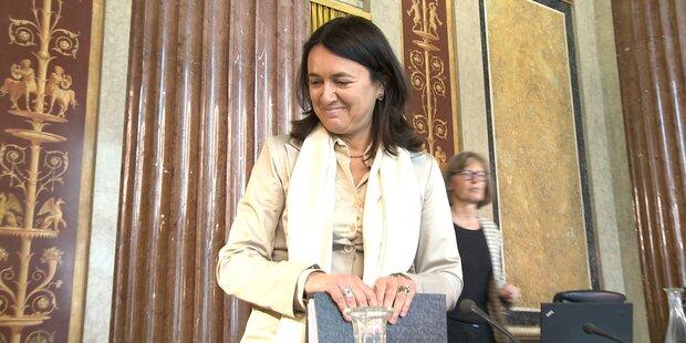 Monika Langthaler im Korruptionsausschuss