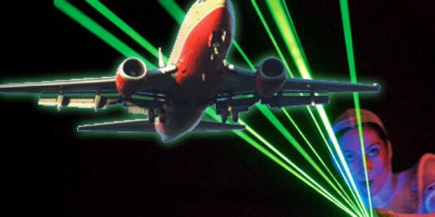Laser-Pointer als Flugzeug-Schreck