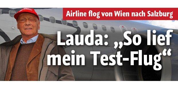 So lief Niki Laudas Testflug