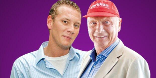 Niki Lauda ist zum ersten Mal Opa