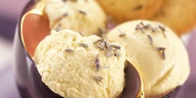 Lavendel-Honig-Eis