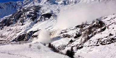 Heftige Lawine in Südtirol gefilmt